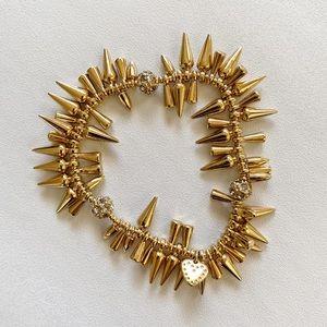 Stella & Dot Renegade Cluster Bracelet Gold